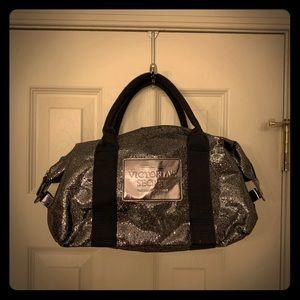 NWOT Victoria's Secret Silver Sparkle Bag